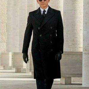 Daniel Craig James Bond Double Breasted Wool Coat